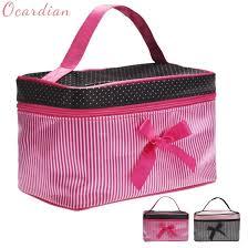 stripe makeup bag fashion cosmetic bag
