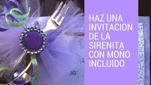 Como Hacer La Invitacion De La Sirenita Casa Boutique