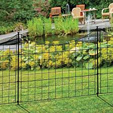 Zippity Semi Permanent Black Metal Garden Fence Garden Fence Panels Metal Garden Fencing Fence Landscaping