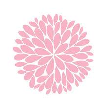 Single 22inch Dahlia Flower Vinyl Wall Decal By Thedecalgirl 19 95 In Hot Pink Flower Wall Decals Vinyl Wall Decals Dahlia Flower
