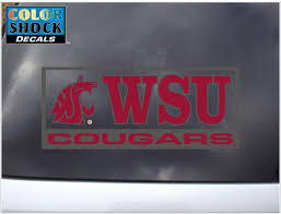 Amazon Com Washington State Cougars Decal Mascot W Wsu Over Cougars Sports Fan Automotive Decals Sports Outdoors