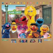 Sesame Street Alphabet Wall Decals Main Creations Art Sign Peel And Stick Stickers Bull Vamosrayos
