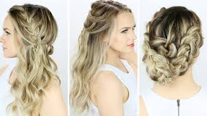 3 prom or wedding hairstyles you can do