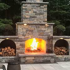 outdoor fireplace kit masonry outdoor