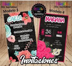 Invitacion Digital Cumpleanos De Chicas 150 00 En Mercado Libre
