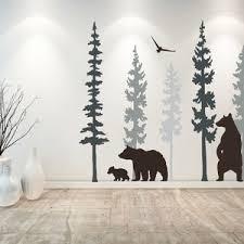 Bear Wall Decal Bear Wall Decor Tree Wall Decals Nursery Etsy