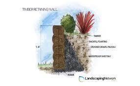 wooden retaining walls landscaping