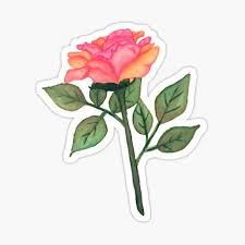 Tumblr Rose Stickers Redbubble