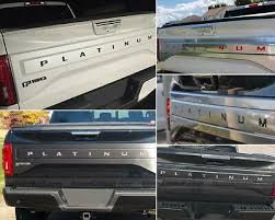 Dkm Chrome Rear Tailgate Letters For F 150 Platinum 2018 Not Decals Ebay