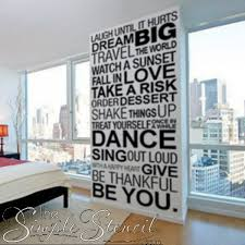 Inspirational Wall Phrases Large Wall Decal Wall Phrases Large Wall Decals Letter Wall Decor