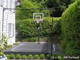 Backyard Courts Home Gyms Sport Court Of St Louis Backyard Basketball Backyard Court Basketball Court Backyard
