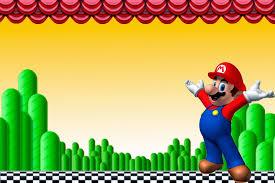 Invitaciones De Cumpleanos De Mario Bros En Hd Gratis Para Bajar