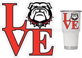 Uga Georgia Bulldogs Love 3 25 Premium Vinyl Decal For Etsy Uga Georgia Powder Coated Tumblers College Decals