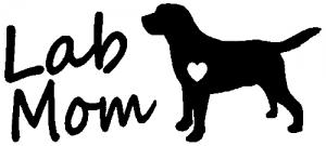 Lab Mom Labrador Retriever Dog Car Or Truck Window Decal Sticker Or Wall Art Decalsrock