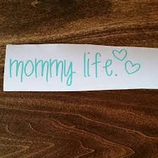 Mommy Life Car Decal Kid Decal Kids Moms Mom Cute Decal Mommy Life Kids Decals Car Decals Vinyl