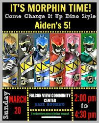 Power Rangers Dino Charge Birthday Party Ideas Cumpleanos De