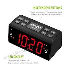 mpow radio alarm clock fm am digital