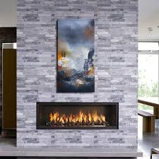 ledge stone fireplace tile
