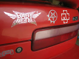 A New Tattoo For My Car Babymetal Next To Arch Enemy And Rammstein Babymetal