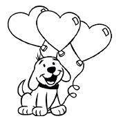 Kleurplaat Hond Liefde Ballon Met Afbeeldingen Kleurplaten
