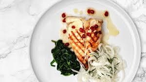 Glitne - Grilled halibut steak with ...