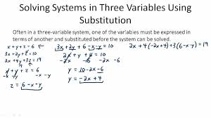 linear equations in three variables