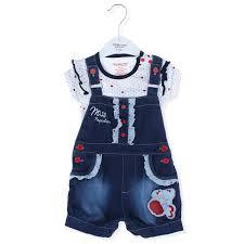 Bộ quần áo bé gái yếm bò 037-40 - Kidsplaza.vn