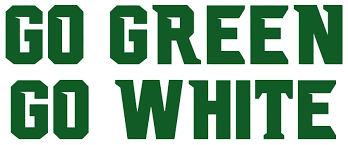 Ncaa1344 Go Green Go White Die Cut Vinyl Decal Sticker