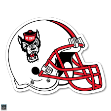 Nc State Wolfpack White Wolf Head Football Helmet Decal Red And White Shop