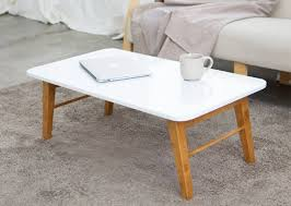 alden folding coffee table white and wood