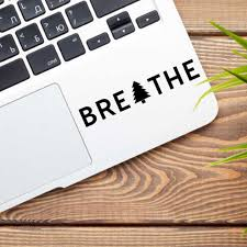 Breathe Tree Vinyl Decal Sticker Just Breathe Quote Decals Vinyl Sticker For Laptop Car Nature Decor Car Stickers Aliexpress