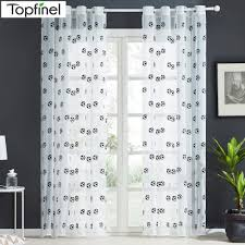 Topfinel New Embroidered Football Sheer Curtains For Living Room Bedroom Children Kids Room Tulle Window Curtains Yarn Drapes Kids Room Curtains Curtains Living Room Boys Bedroom Light