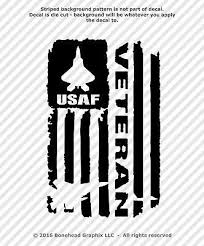 Distressed Air Force Usaf Veteran Flag Vinyl Decal Military Sticker 4 Sizes Military Stickers Vinyl Decals Cricut Iron On Vinyl