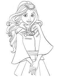 Kids N Fun Kleurplaat Disney Descendant Wicked World Cute Evie