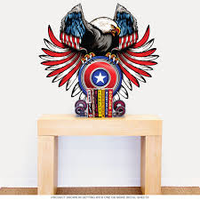 American Eagle Shield Cutout Wall Decal At Retro Planet