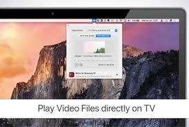 mac or macbook on a samsung tv screen