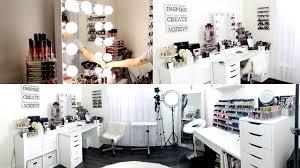makeup room filming set up