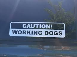 Caution Working Search Dog Window Decal Superfit Canine