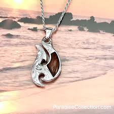 sterling silver hawaiian koa wood fancy