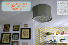 ceiling mount drum shade light fixture