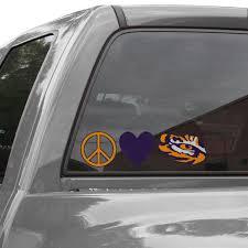 Lsu Tigers Peace Love Car Decal