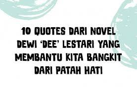 quotes dari novel dewi dee lestari yang membantu kita bangkit
