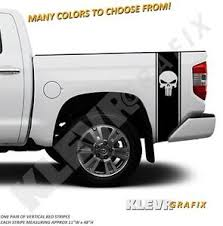Universal Punisher Truck Rear Vertical Bed Stripes Vinyl Decal Graphics Racing Ebay