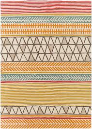 burnt orange abstract wool rug