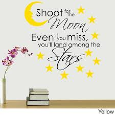 Shop Shoot For The Moon Multicolored Vinyl Wall Quote Decal Overstock 12610077