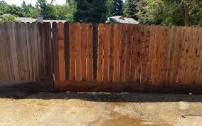 Before And After Pressure Washing Fence By Greg S Handyman Yard And Tree Trimming Services In Fresno Ca Alignable