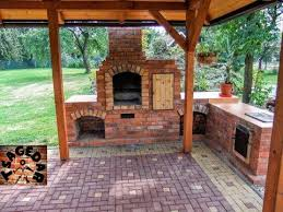 diy outdoor fireplace with bbq grill