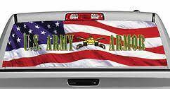 Truck Rear Window Decal Graphic Military U S Army Armor 20x65in Dc08706 Ebay