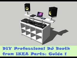 guide diy dj booth from ikea parts