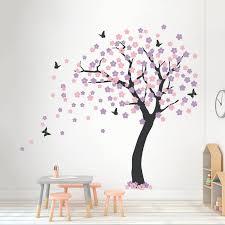 Zoomie Kids Cherry Blossom Tree Wall Decal Wayfair